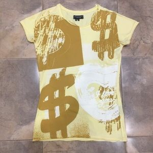 Levi's x Andy Warhol Factory Yellow Graphic Tee S